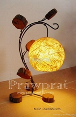 Modern Art Feel Nature w/ Hanging Ball Lamp