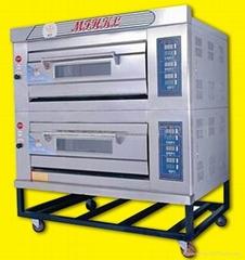 二層四盤燃氣烤箱