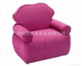 粉紅布衣儿童沙發
