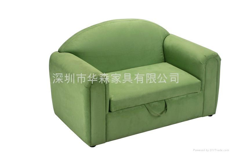 淺綠布衣儿童沙發 1