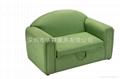淺綠布衣儿童沙發