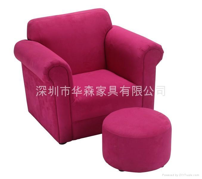 紅色布藝儿童沙發 1