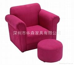 红色布艺儿童沙发