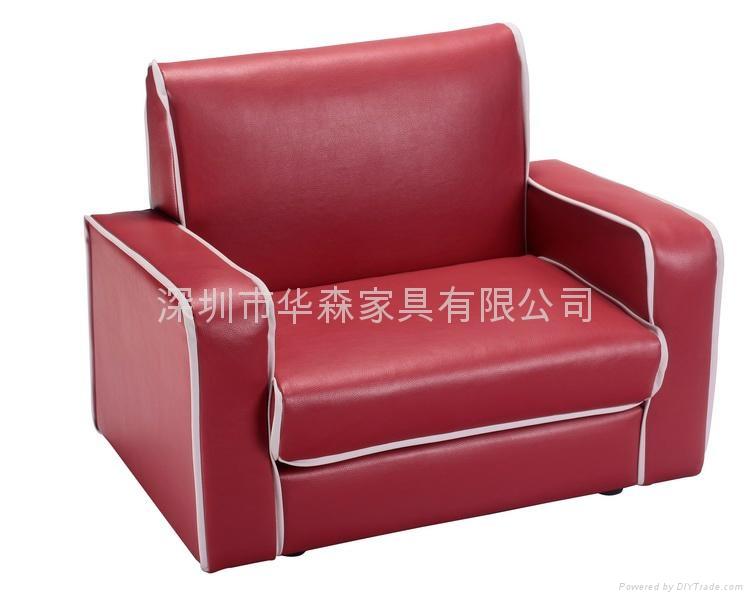 紅色皮儿童沙發 1
