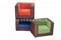 各顏色方型儿童沙發