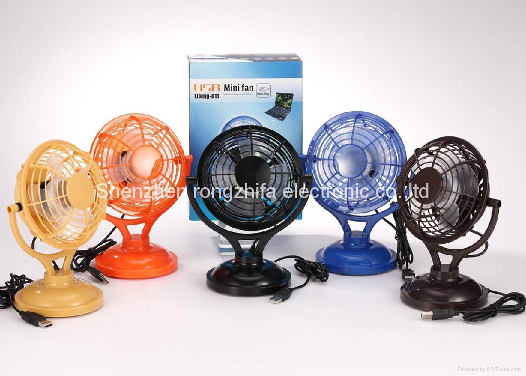 USB micro computer cooling desk fan with battery 3