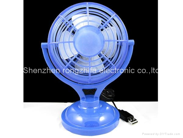 USB micro computer cooling desk fan with battery 4