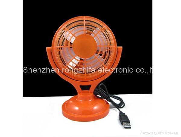 USB micro computer cooling desk fan with battery 5