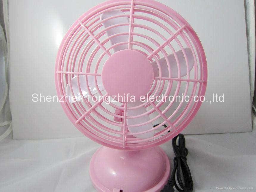 usb stand battery operated plastic fan 4
