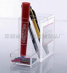 水晶精美筆筒筆架