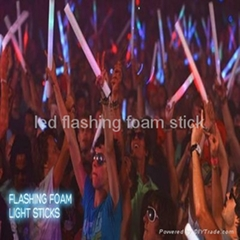 led flashing foam/glow stick