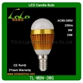 energy saving High Power E27 3W light ball led AC85-265V