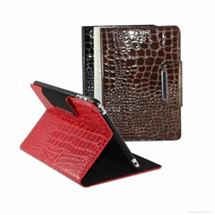 water wave style leather case cover for ipad mini