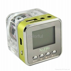 Portable Music USB LCD MINI MP3 Player Speaker FM TF Card FOR PHONE MP3 MP4
