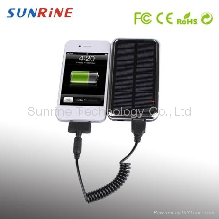 Solar charger for iphone ipad mobile phones PDA GPS PSP NDSI 3