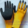 21G Cotton Latex Crinkle Gloves