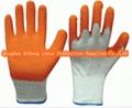 10G Cotton Latex Crinkle Gloves 1