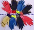 13G Nylon Latex Crinkle Gloves