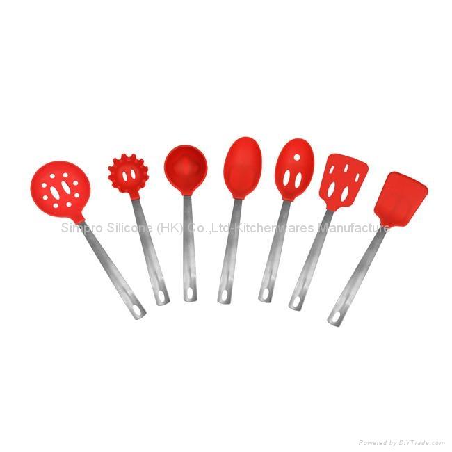 silicone kitchen utensil set 2