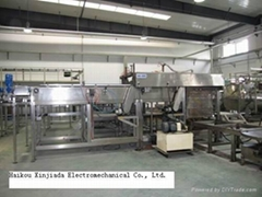 Automatic sterilization cage loader machine for canned food and beverage