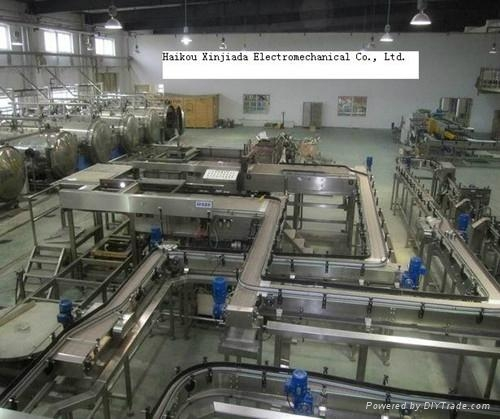 Assembly Line Systems : Automatic transmission assembly line conveyor for cans and