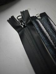 黑色光瓦防水拉链