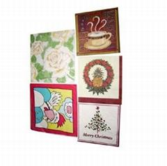 folded paper napkins