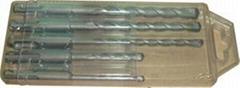 5pcs SDS Plus Drill Bits in Insert Plastic Box