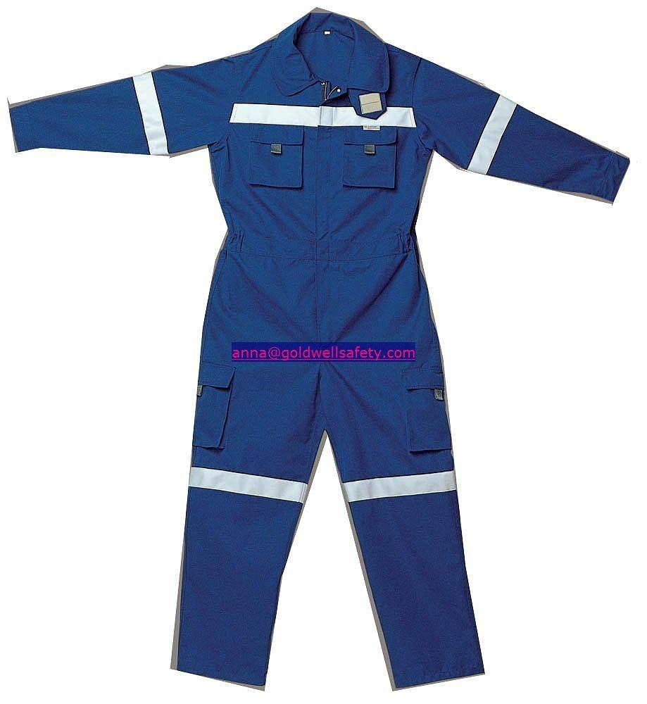 Flame resistant safety coverall 1