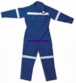 Flame resistant safety coverall