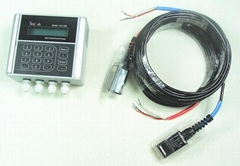 Pump flow measurement meter