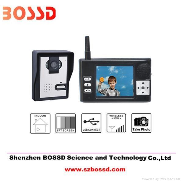 TFT LCD 3.5'' wireless intercom system camera 3