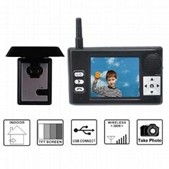 2012 Popular Full-digital door peephole camera wireless