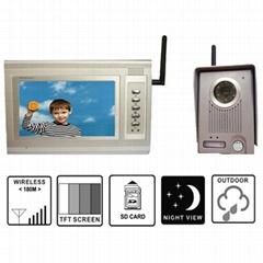 7'' color wireless video door phone