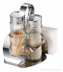 Salt and Pepper sets with Napkin Holder, toothpick bottle