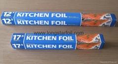 Household aluminium foil rolls for UK market