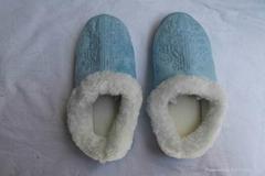 stock embellished pastel slipper