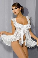 Beauty Floral Lace Babydoll Nightwear Women Sleepwear Lace Lingerie