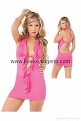 Charming rose halter dress