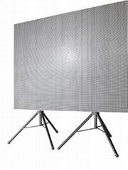 P6室內全彩壓鑄鋁LED顯示屏帶腳架尺寸1920X1440
