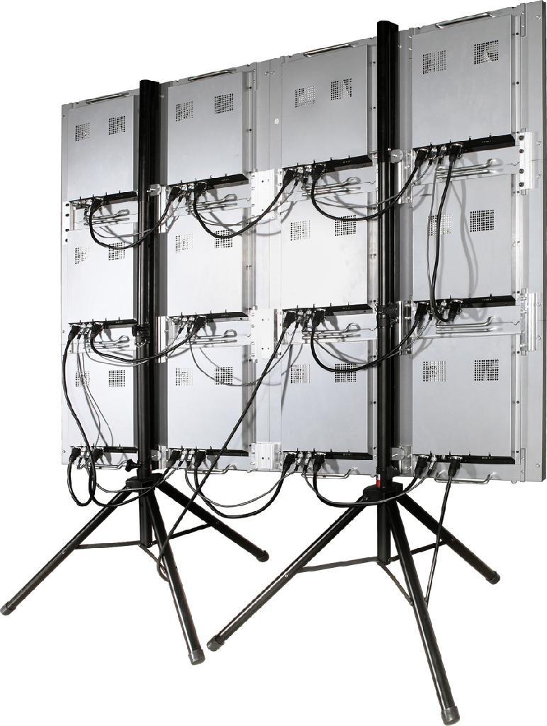 P6室內全彩壓鑄鋁LED顯示屏帶腳架尺寸1920X1440  2