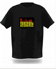 2012 Newest Design Fashion EL Panel T-shirts