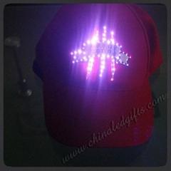 光纤帽,LED帽,LED发光条帽子,全棉刺绣光纤帽
