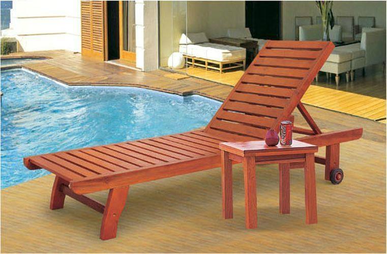 Wooden Beach Lounge Chair 1