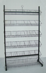 DVD Display Rack with 5 Baskets