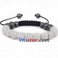 Wholesale clear crystal stones bead macrame bracelet SBB088-12