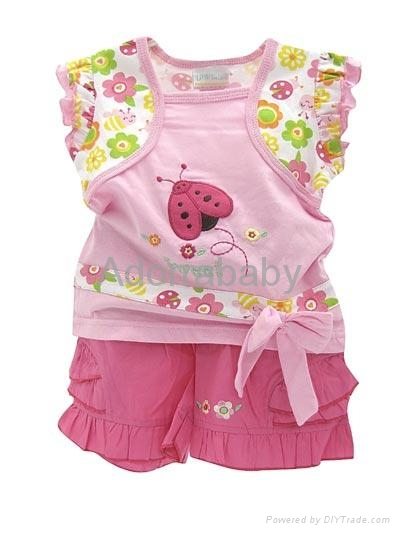 baby clothing 2 piece set blouse and shorts 1