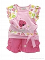 baby clothing 2 piece set blouse and