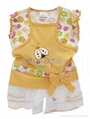 baby clothing 2 piece set blouse and shorts 2