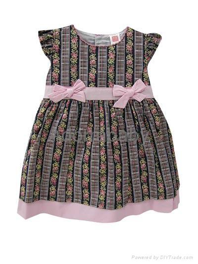 New baby girl dress brown baby dress with underwear 1
